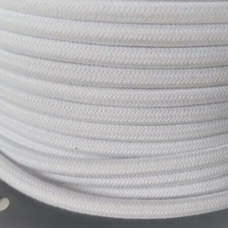 Tekstilinis medvilninis baltas laidas