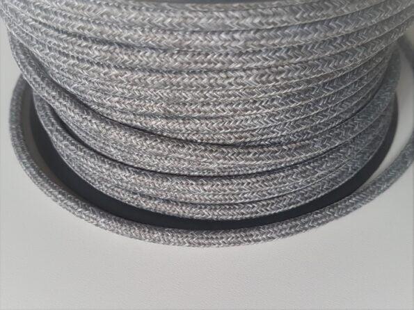 Tekstilinis laidas melange šv. pilkas