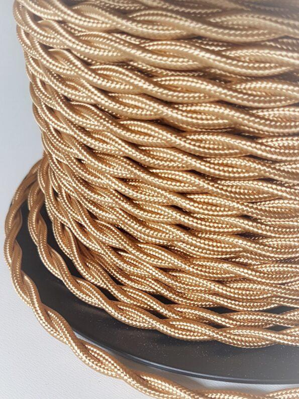Tekstilinis pintas aukso spalvos laidas