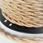 Tekstilinis pintas lininis laidas